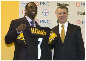 Santonio Holmes on Draft Day 2006
