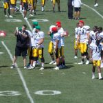 Steelers O-Line runs drills