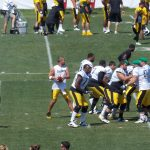 Ben Roethlisberger goes back to pass