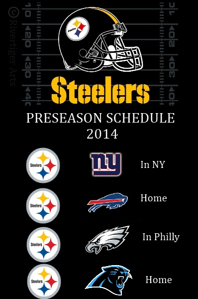 Pittsburgh+Steelers+2014+NFL+Preseason+Schedule+Giants+Bills+Eagles+Panthers+Rivertiger+Arts