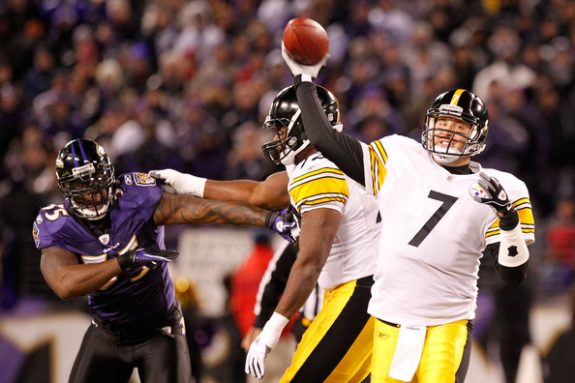 Pittsburgh+Steelers+v+Baltimore+Ravens+Ben+Roethlisberger+2013+NFL