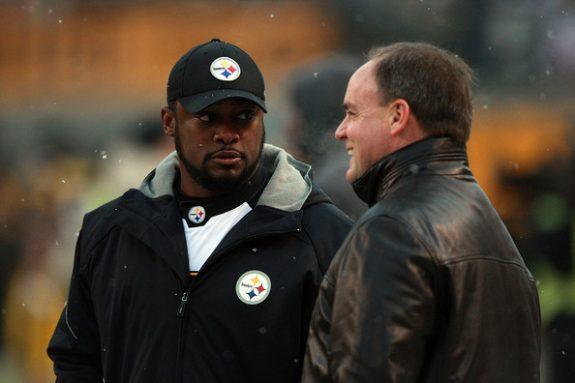 Kevin+Colbert+Mike+Tomlin+Pittsburgh+Steelers