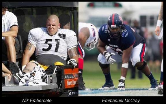 Nik+Embernate+Emmanuel+McCray+Pittsburgh+Steelers