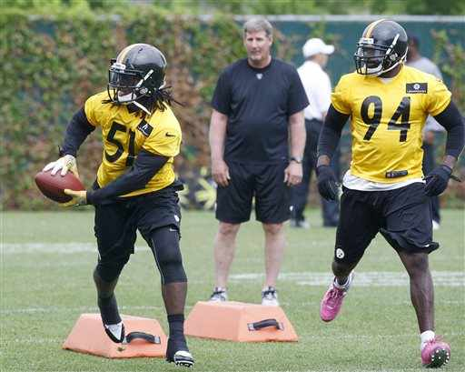 Sean+Spence+Lawrence+Timmons+Pittsburgh+Steelers+Minicamp