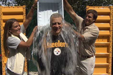 Steelers President Art Rooney II Takes The ALS Ice Bucket Challenge