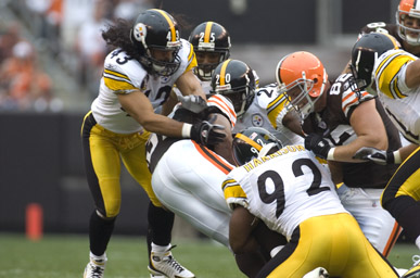 Polamalu_Harrison_Pittsburgh_Steelers_Cleveland_Browns