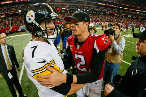 Ben+Roethlisberger+Matt+Ryan+Steelers+Falcons+December+2014