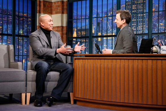 Former Steelers WR Ward on 'Late Night with Seth Myers' on Brady and Suggs