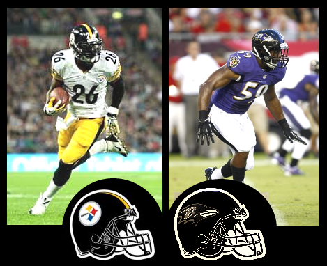 Steelers+LeVeon+Bell+Ravens+Arthur+Brown