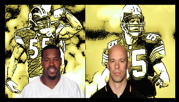 Joey+Porter+Jerry+Olsavsky+Steelers+Players+Coaches+Copyright+2015+Rivertiger+Arts