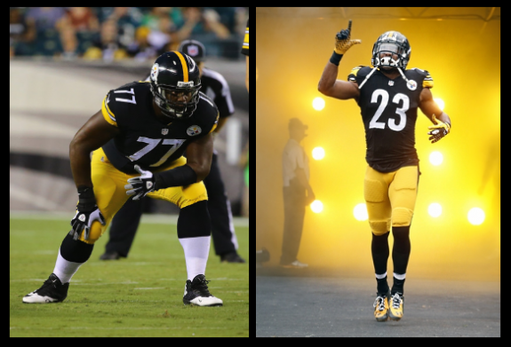 Marcus+Gilbert+Mike+Mitchell+Pittsburgh+Steelers