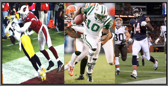 The many colors of receiver Santonio Holmes