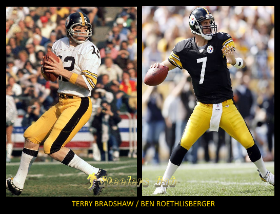 terry+bradshaw+ben+roethlisberger+steelers+quarterbacks