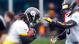 Steelers running backs DeAngelo Williams and LeVeon Bell