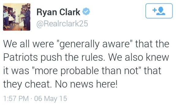 Ryan Clark tweet