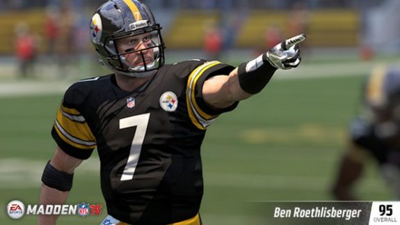 Ben Roethlisberger Rounds Out as the 4th Ranked QB on Madden 16