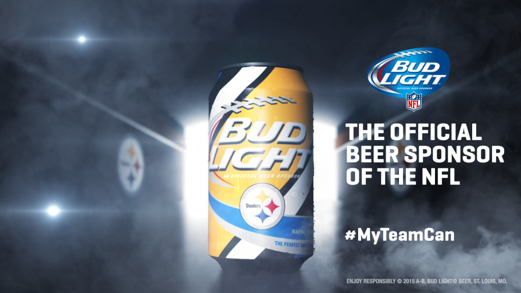 Pittsburgh Steelers Bud Light Can