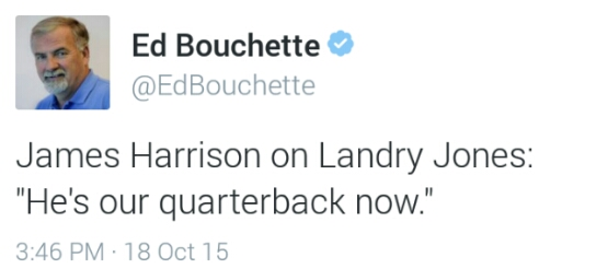 Ed Bouchette Tweet