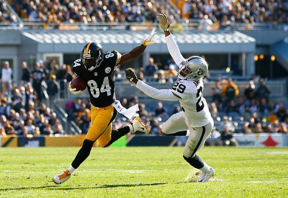 Steelers Lose Roethlisberger, Top Raiders 38-35 On Record Day for Brown