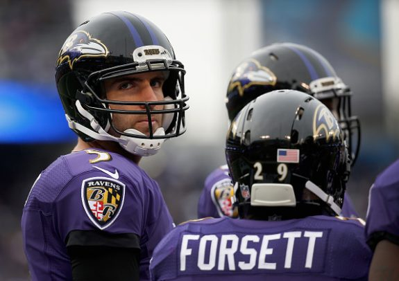 Steelers Rival in Ravens Lose Both Forsett and Flacco for the Season in Sunday's Win