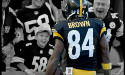 Antonio Brown with Steelers Fans