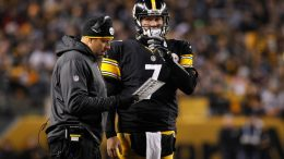 Steelers offensive coordinator Todd Haley and quarterback Ben Roethlisberger