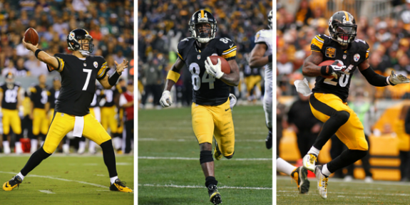 Ben Roethlisberger, Antonio Brown, Le'Veon Bell, Steelers Killer B's