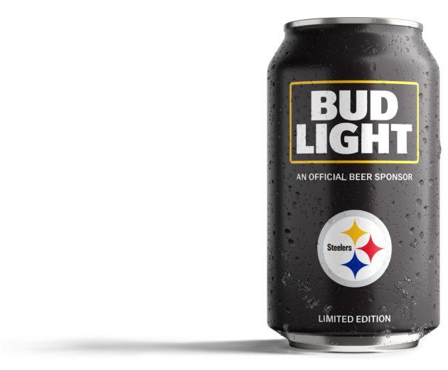 Bud Light Steelers Can