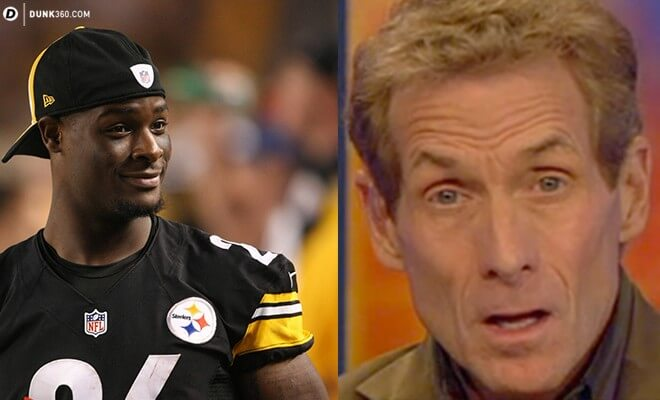 Antonio Brown Sticks Up For Le'Veon Bell in His Ongoing Fight with Skip Bayless