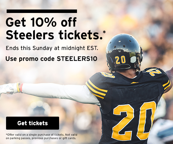 StubHub Offering 10% Off Any Steelers Tickets