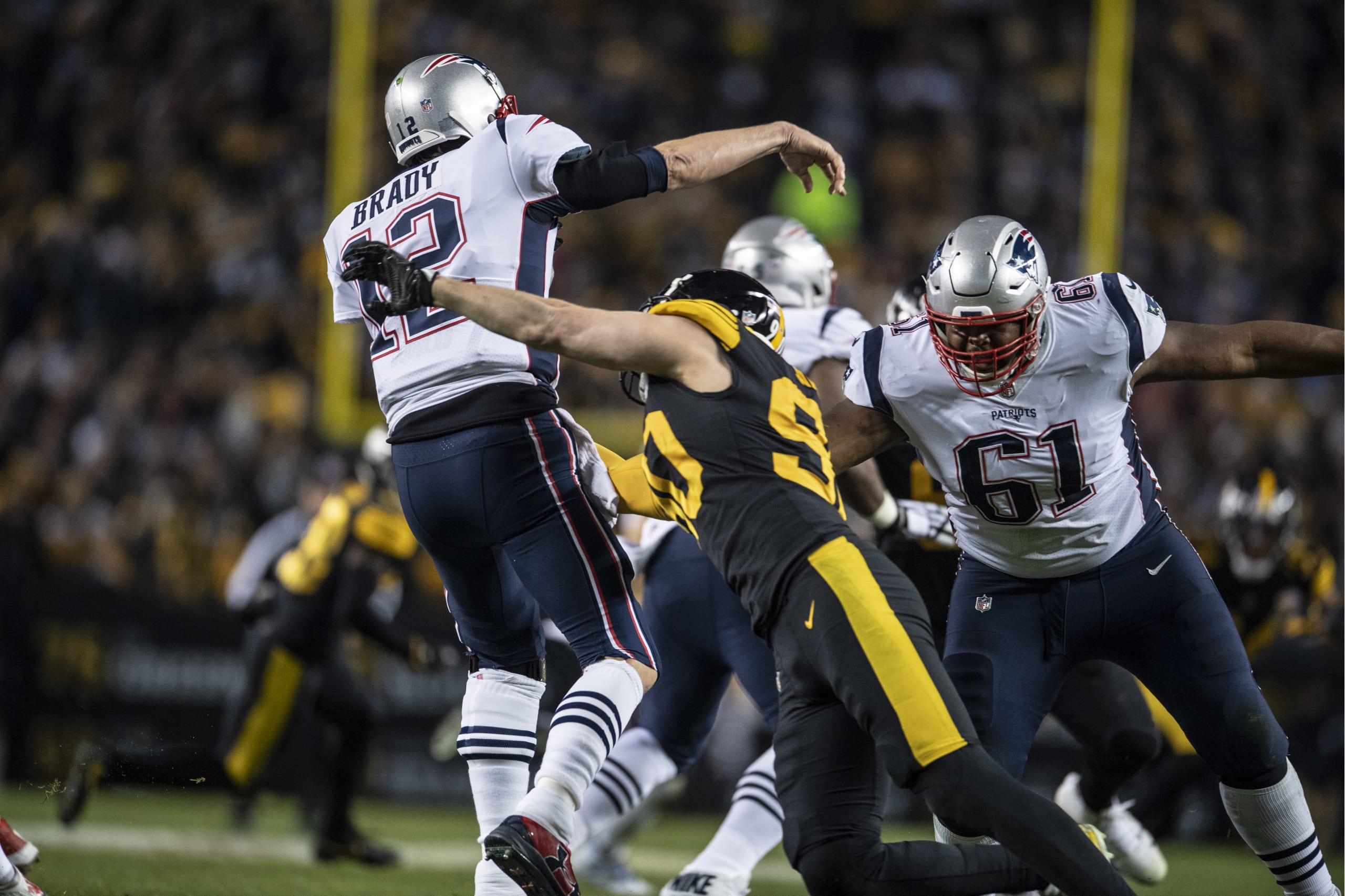 91710043601 For the first time (in a long time) the ball finally bounced the Steelers  way against their all-time biggest arch rival, Tom Brady.